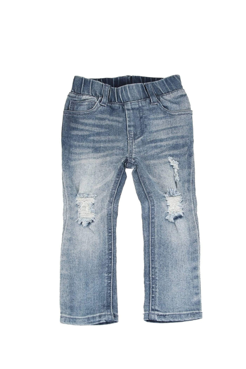 Blue Distressed Denim Jeg Jean Baby