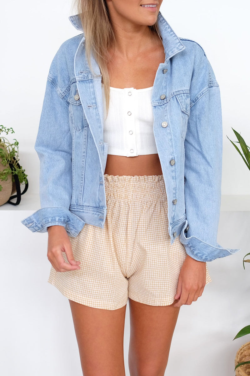 Boxy Denim Jacket Sea Blue