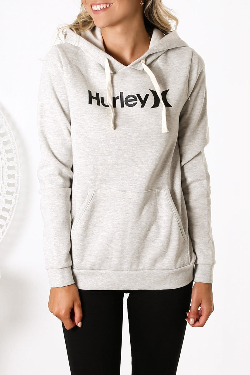 One & Only Pullover Fleece Grey Heather Black