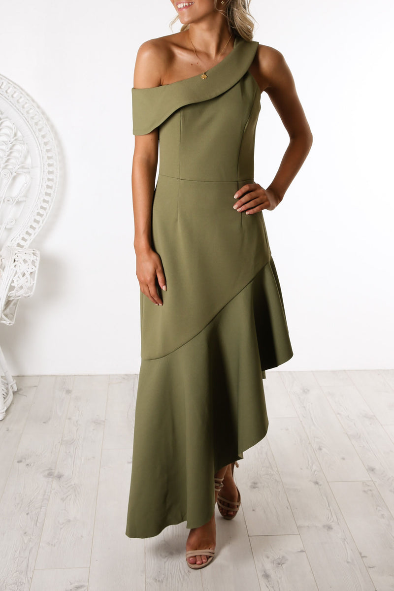 Fluid Dress Khaki