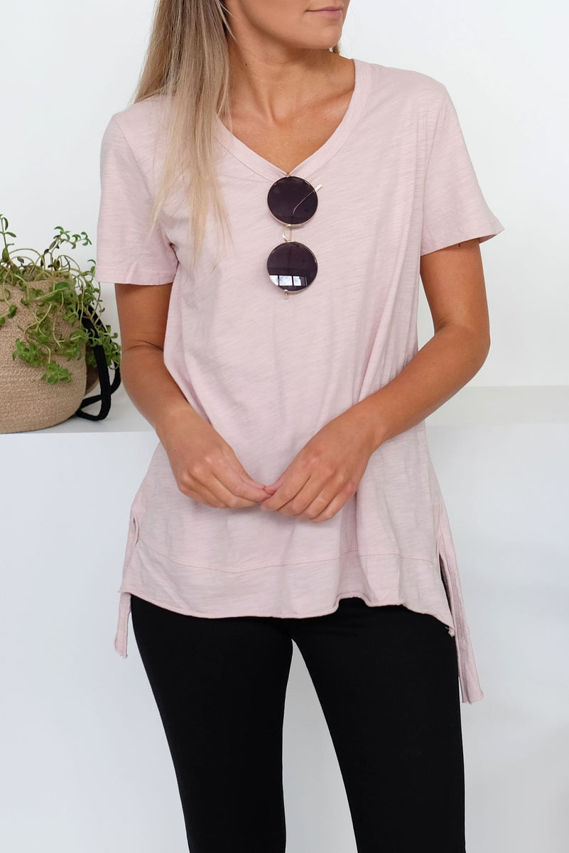 Brighton Short Sleeve Tee Blush