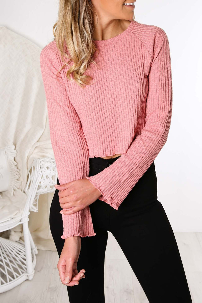 Brinkley Raglan Long Sleeve Tee Mauve All About Eve - Jean Jail