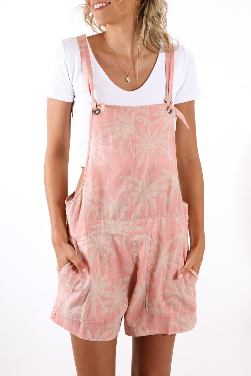 Bronte Beach Overall Dress Stone Mauve
