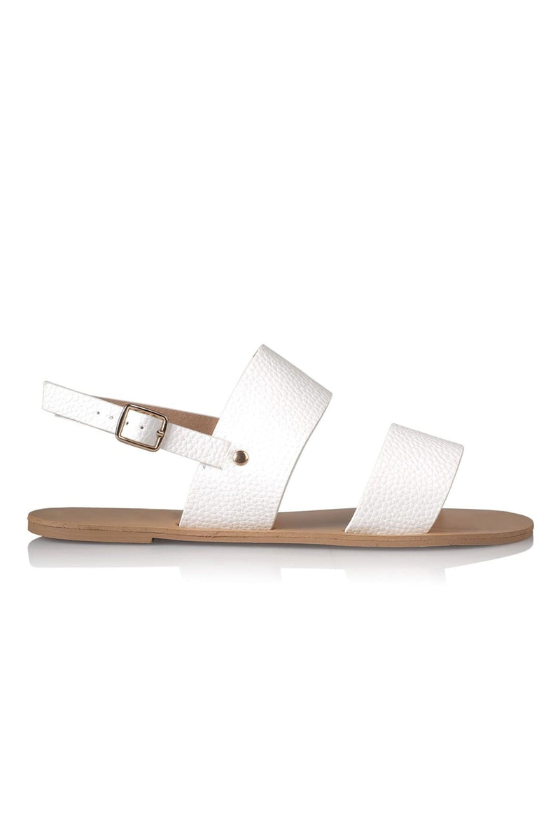 Capri Sandal White Pebble Billini - Jean Jail