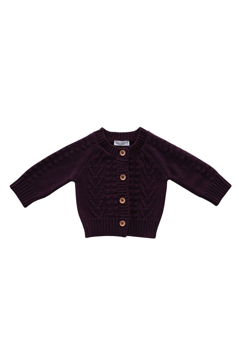 Cable Cardigan Mulberry