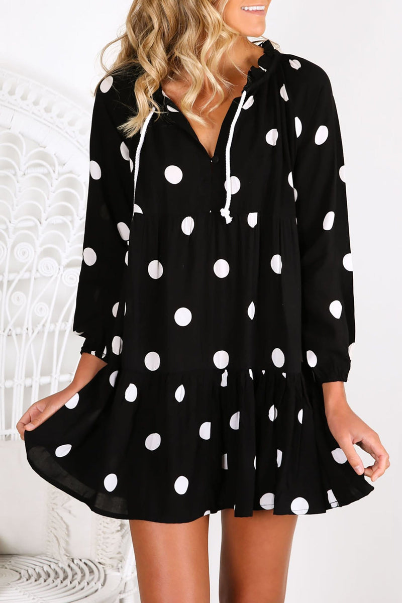 Cali Shirt Dress Black Spot