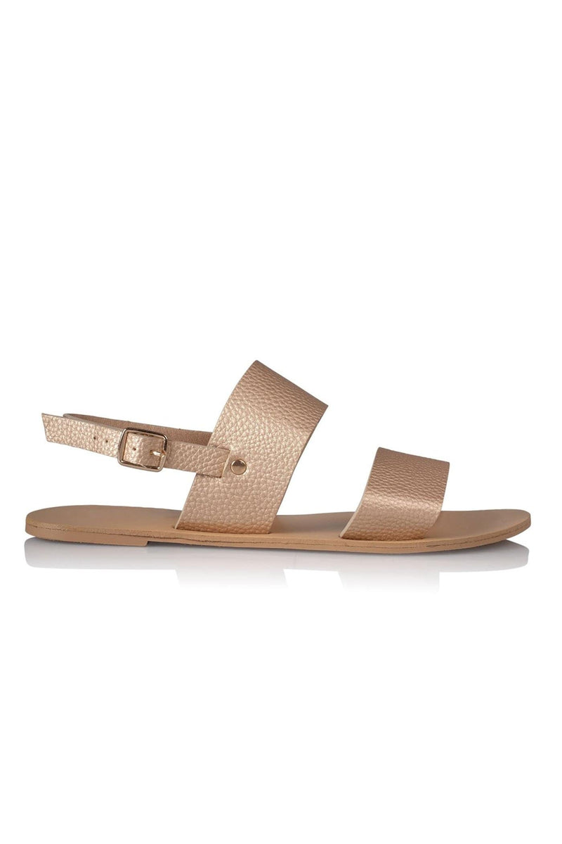 Capri Sandal Rose Gold Pebble Billini - Jean Jail