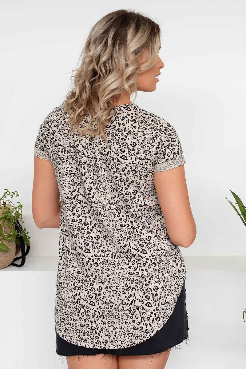 Cartel Beaded Tee Zulu Leopard