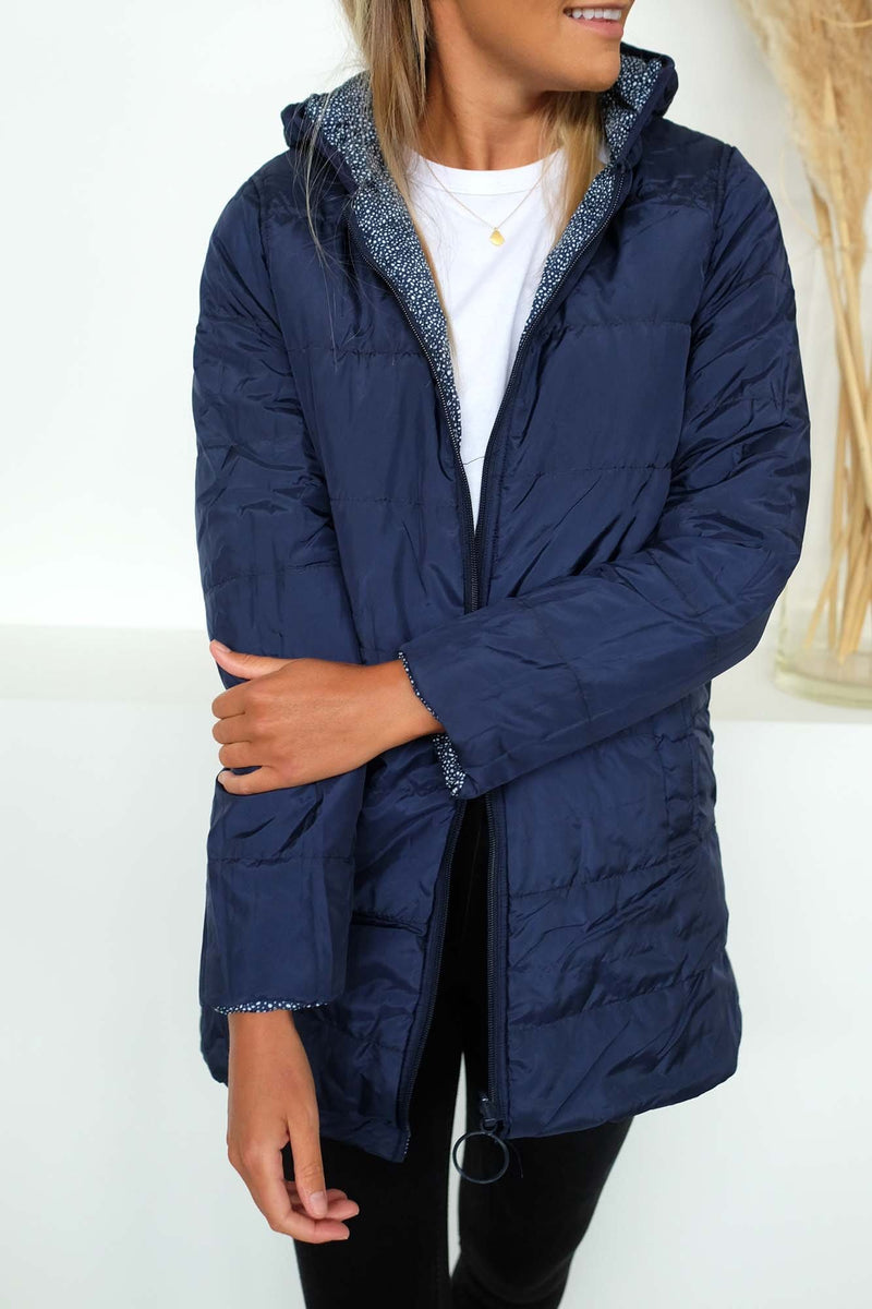 Carter Reversible Puffa Jacket Ink
