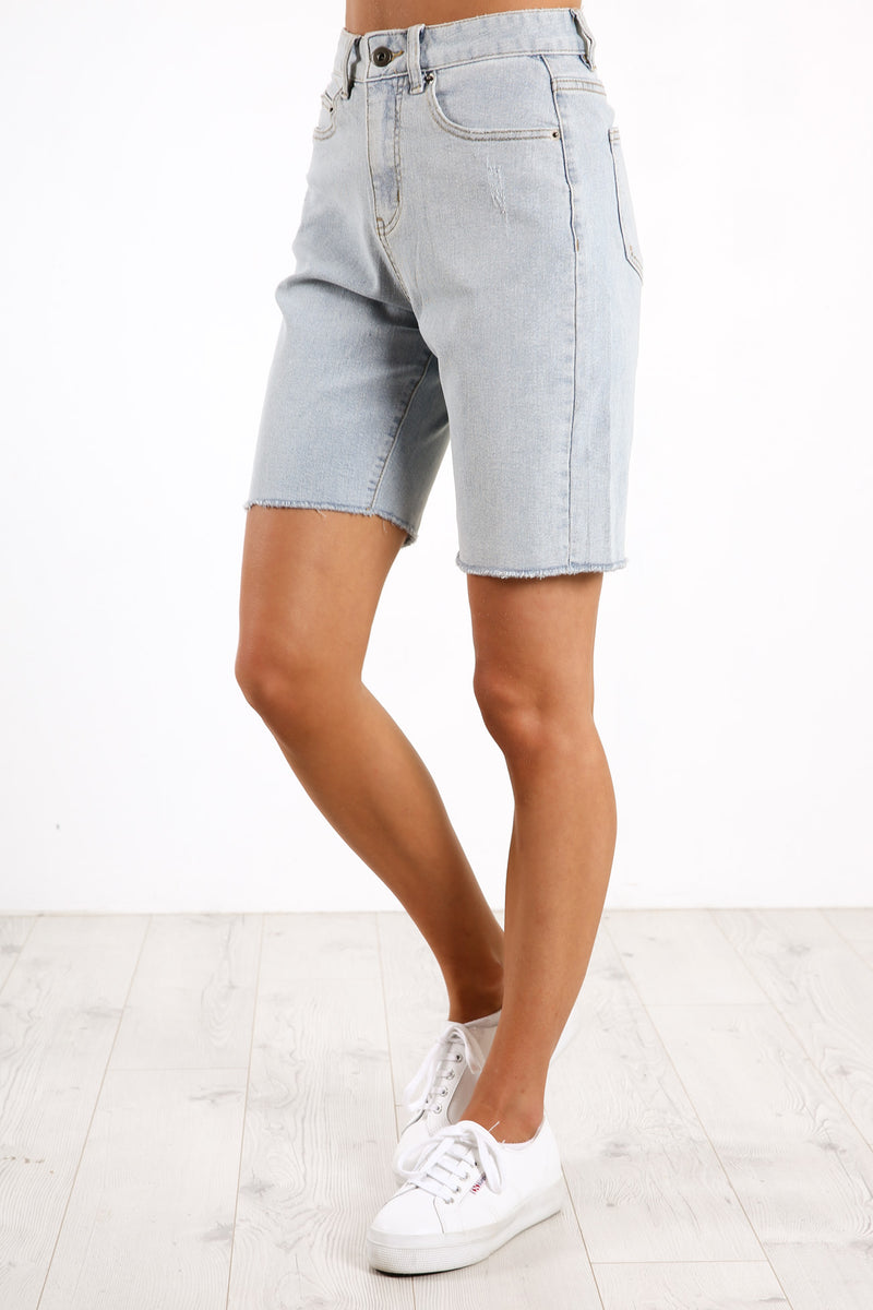 Cassie Denim Short Light Blue