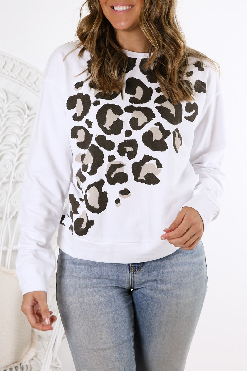 Celine Sweater White Animal