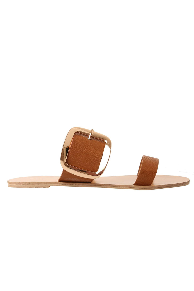 Chania Sandal Tan Pebble