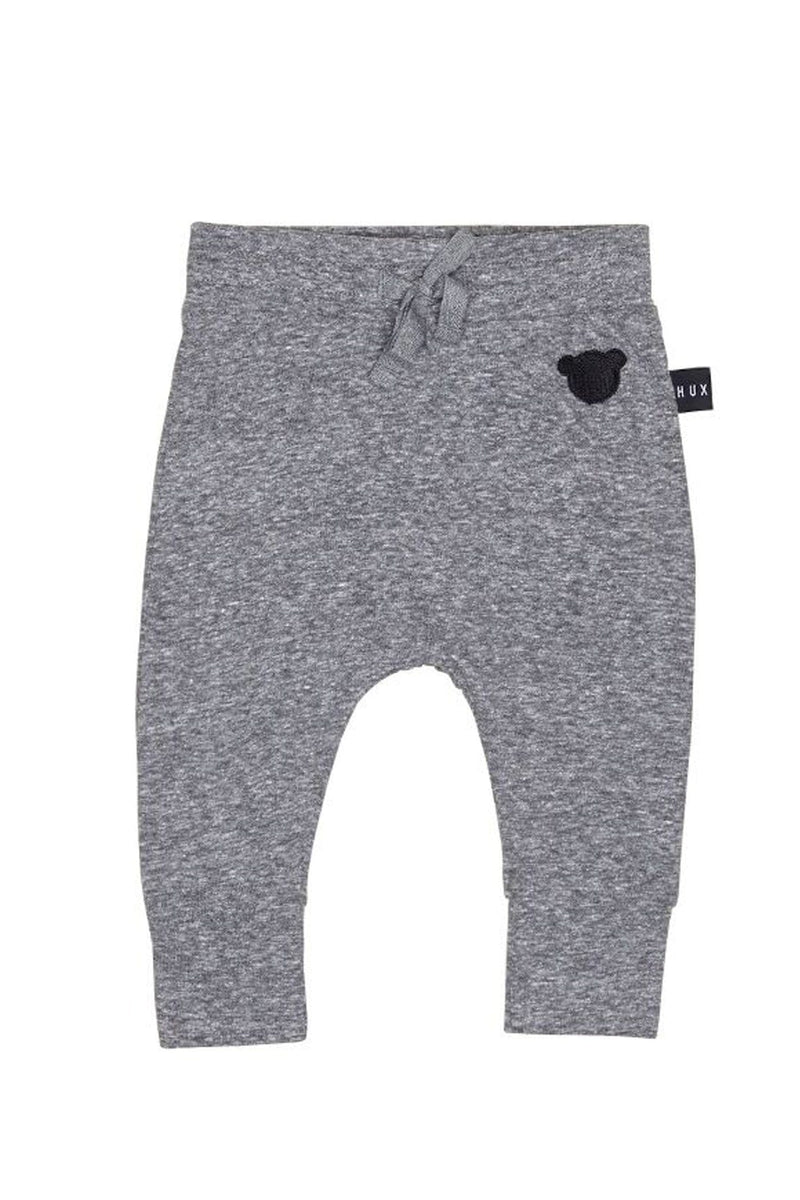Charcoal Slub Drop Crotch Pant