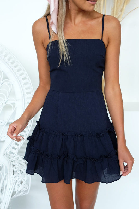 Check This Out Dress Navy
