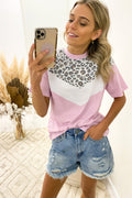 Cheetah Chevron Tee Tan