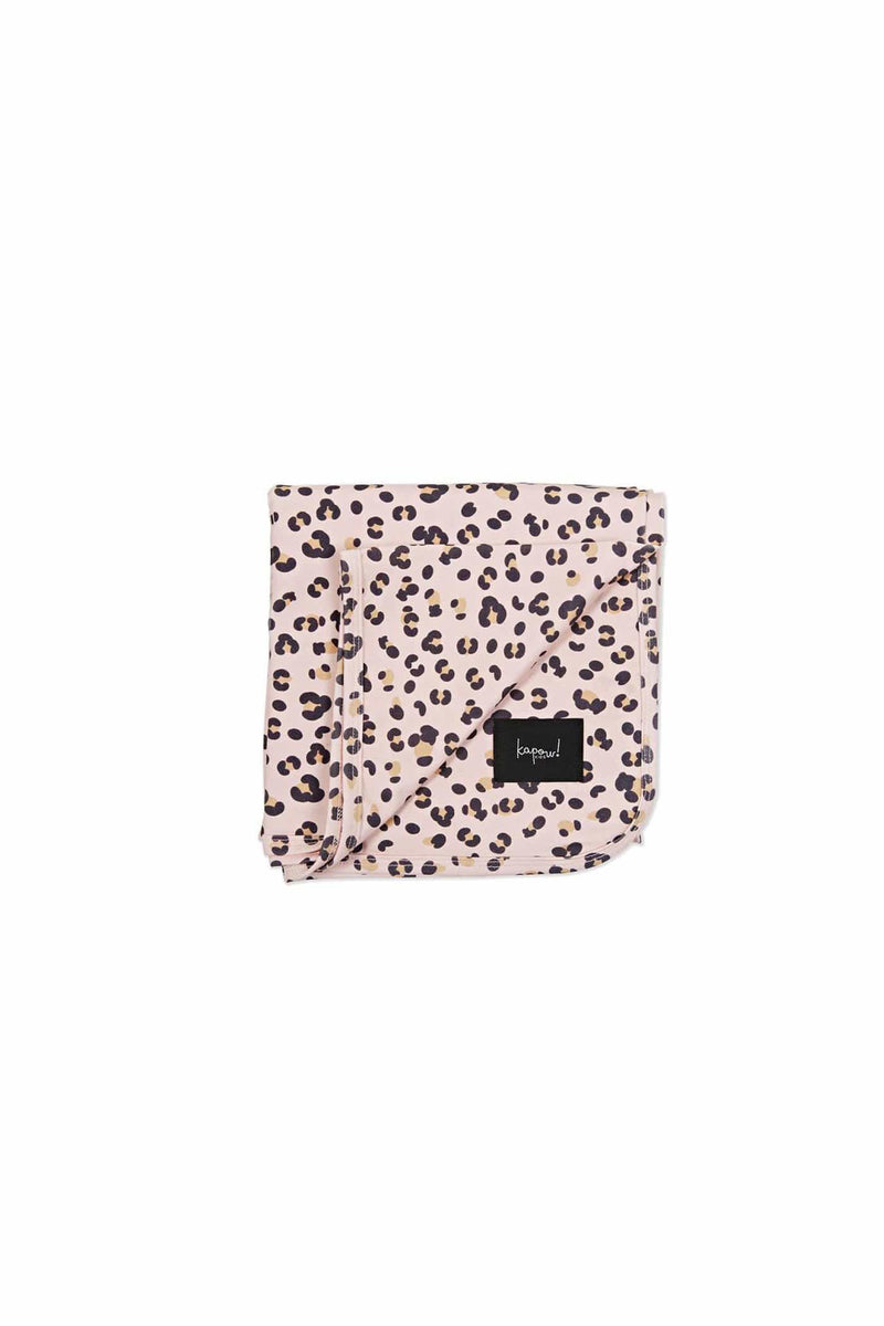Cheetah Swaddle Blanket Ecru