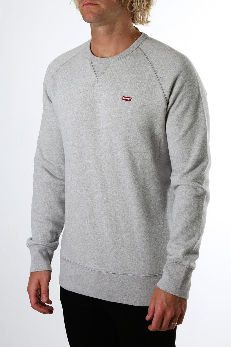 Chest Logo Crewneck Sweatshirt Medium Grey Heather