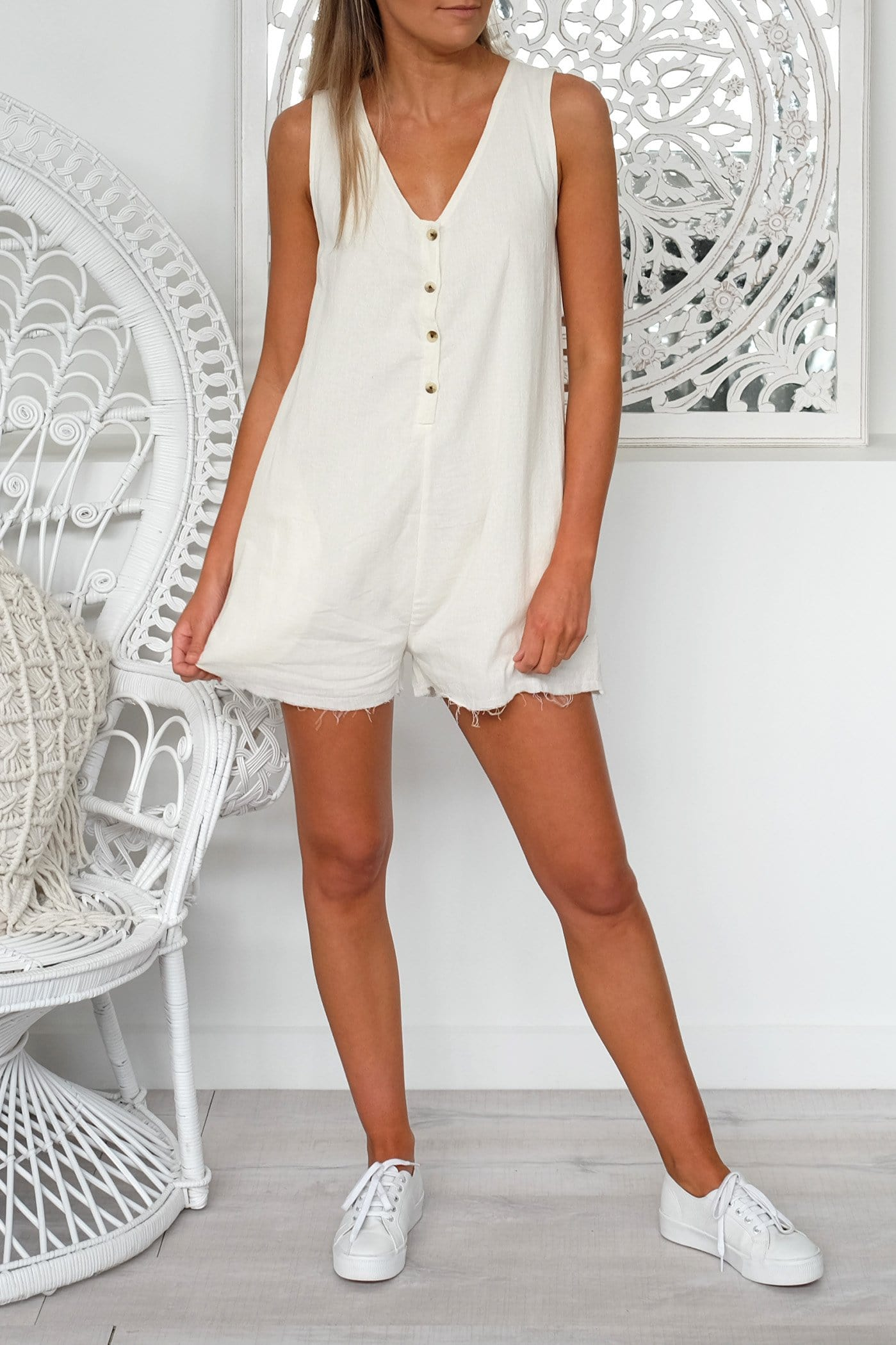 Chevelle Playsuit Natural