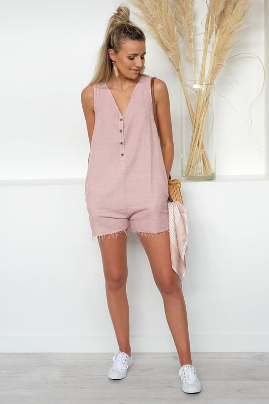 Chevelle Playsuit Rose Smoke