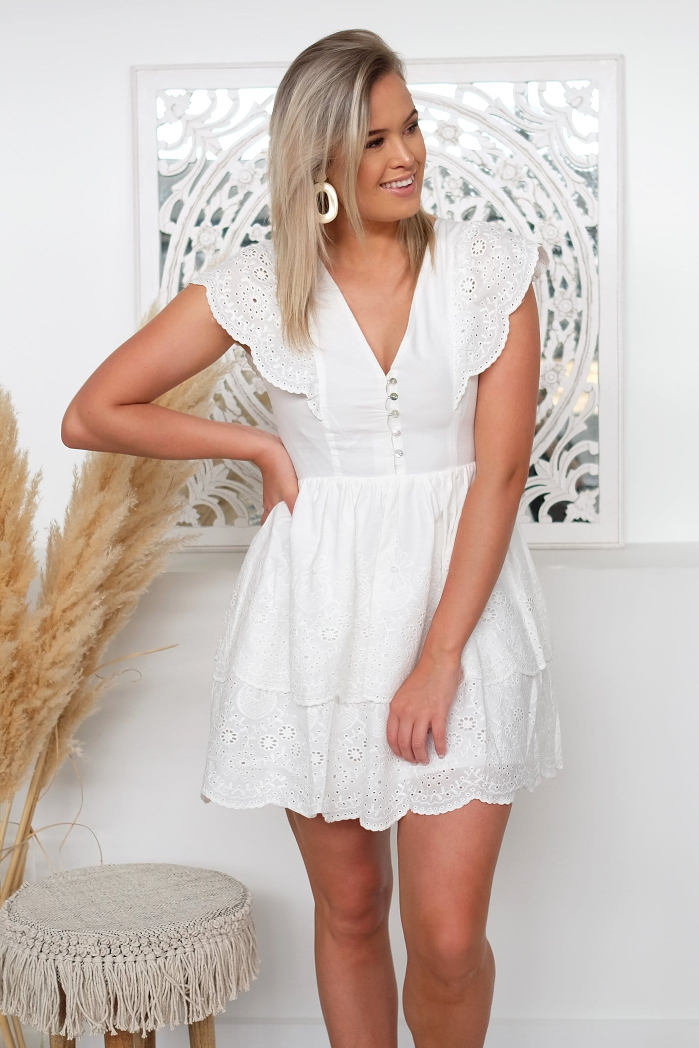 Chloe Dress White