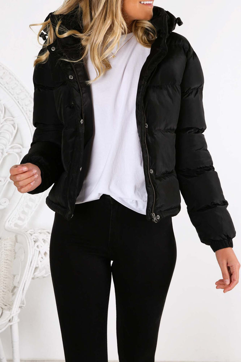 Cirrus Puffer Jacket Black Rusty - Jean Jail