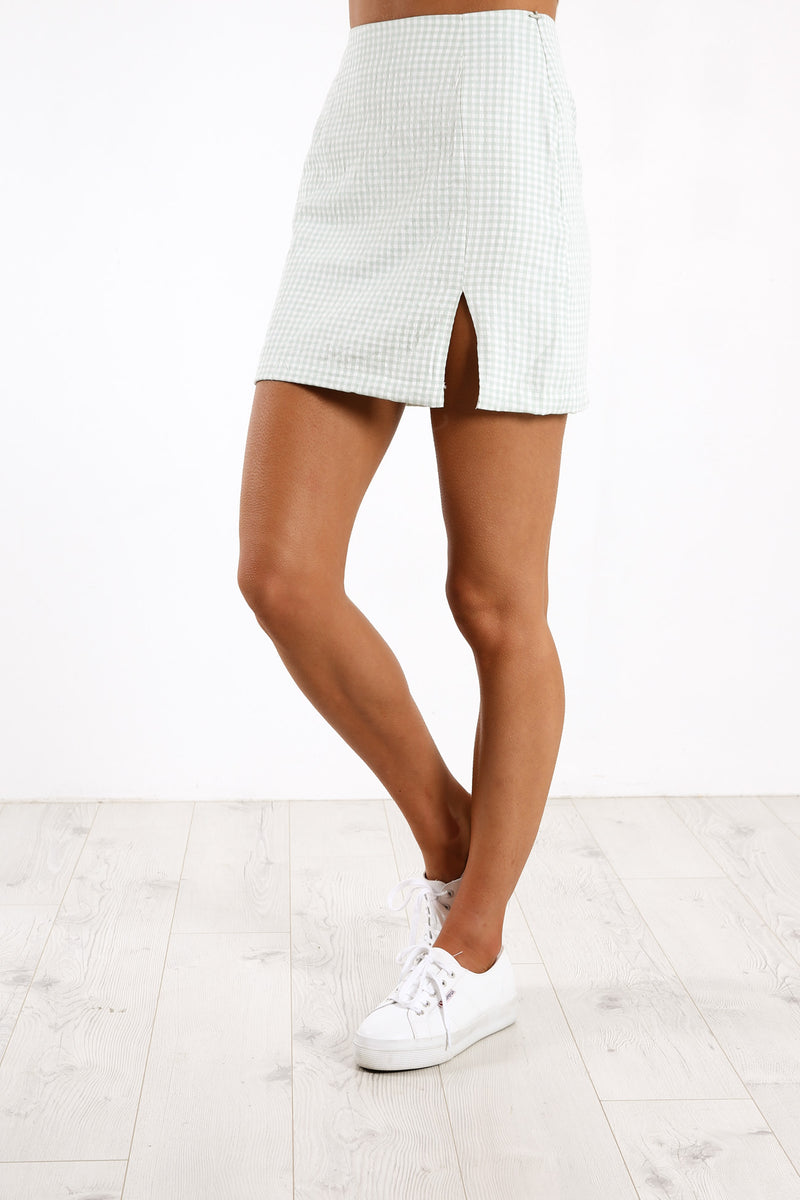 Claudia Mini Skirt Green