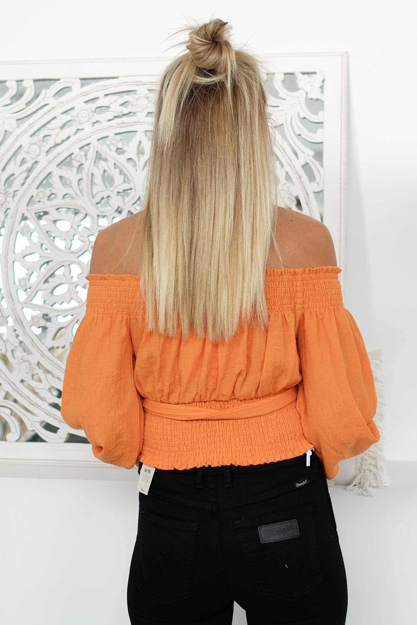 Close To Me Top Orange