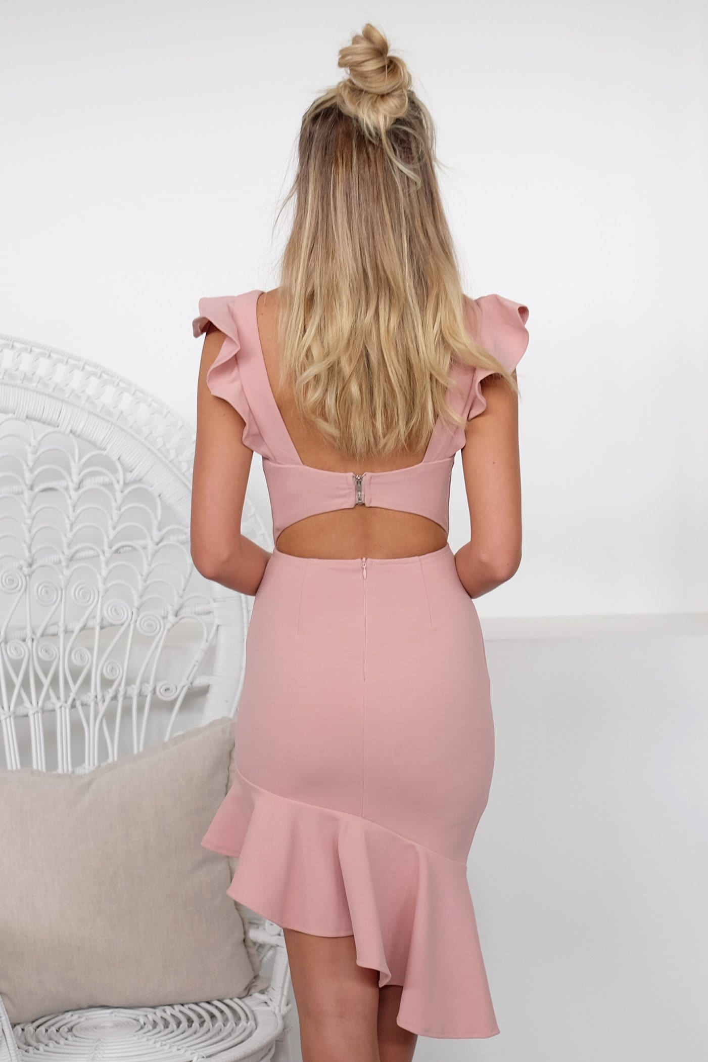 Clumsy Love Dress Blush