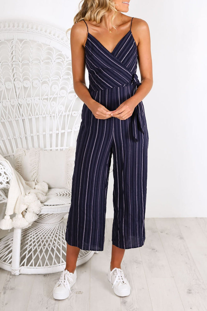 Coast Stripe Jumpsuit Navy White The Fifth Label - Jean Jail