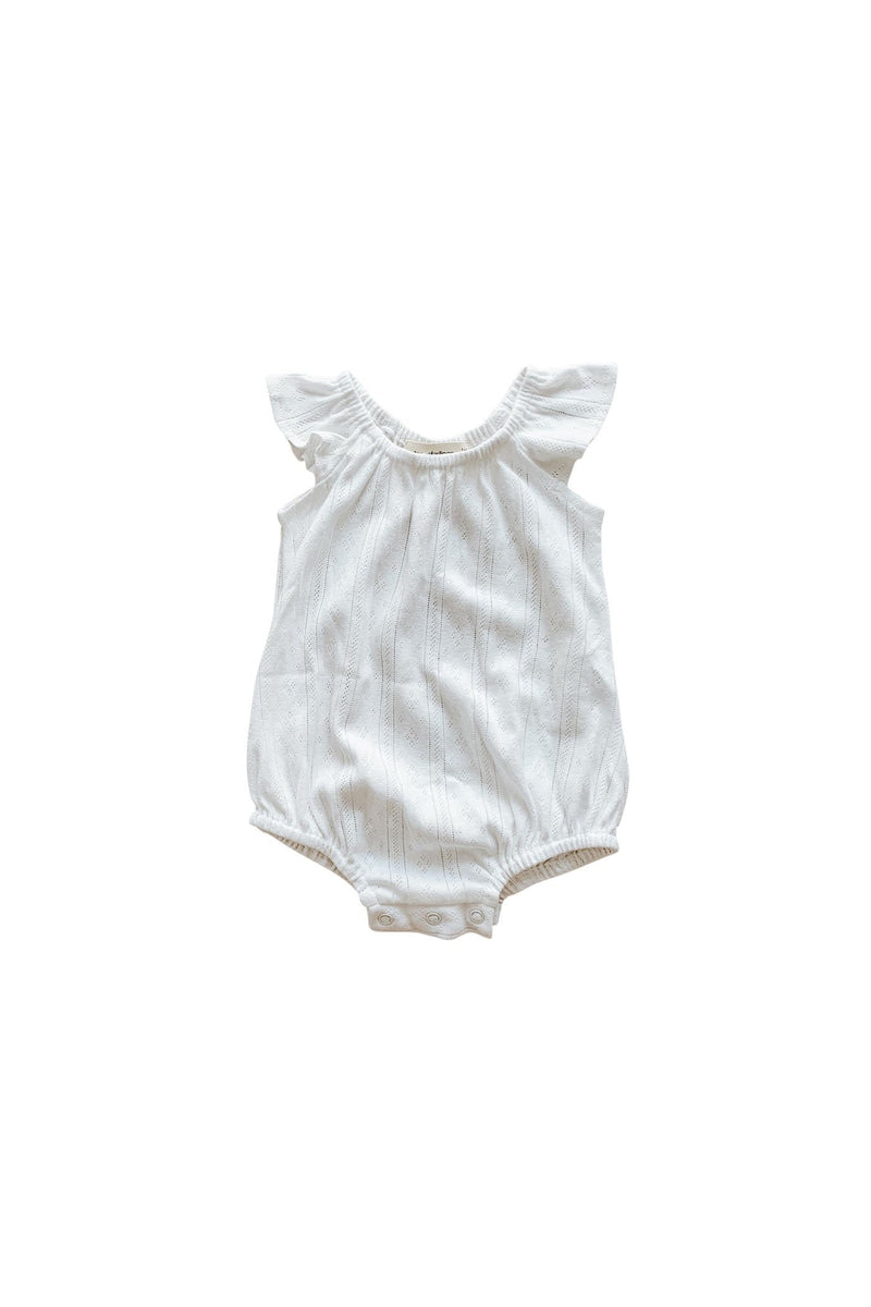 Coconut Pointelle Playsuit
