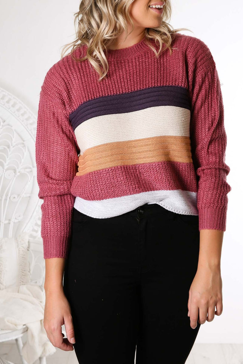 Combination Knit Stripe All About Eve - Jean Jail