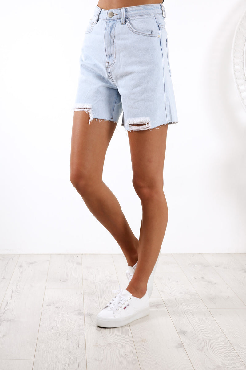 Corinna Denim Short Blue