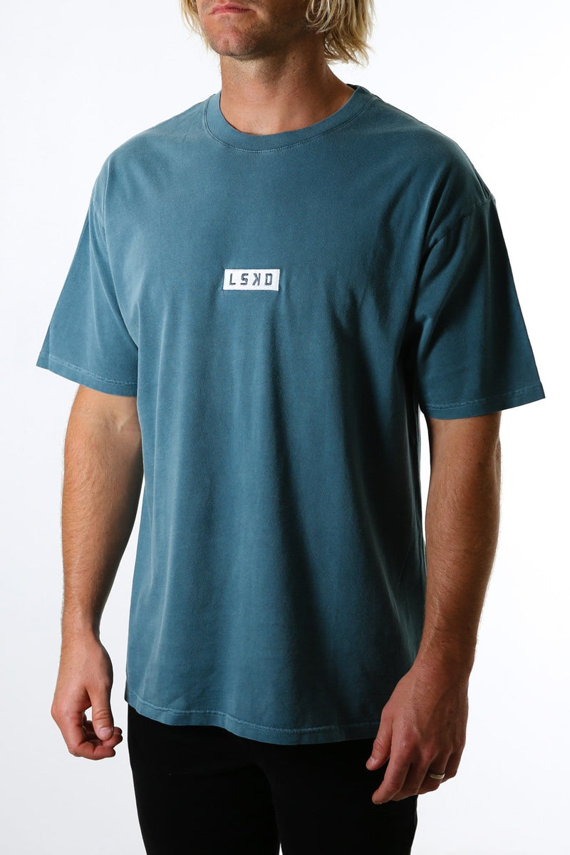 Cornerstone Tee Box Fit Deep Teal