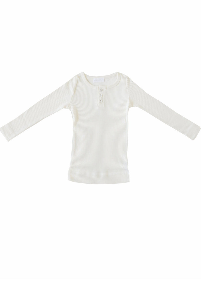 Cotton Modal Henley Milk
