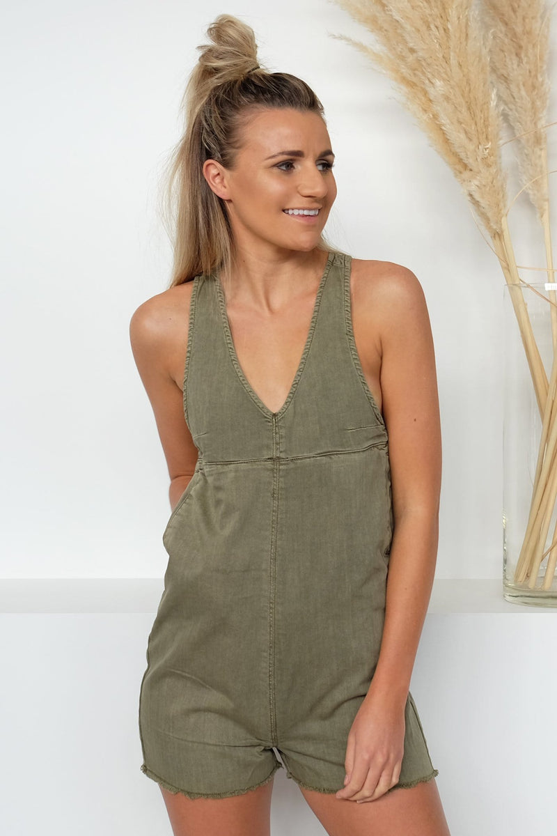 Coyote Short Overalls Army Green