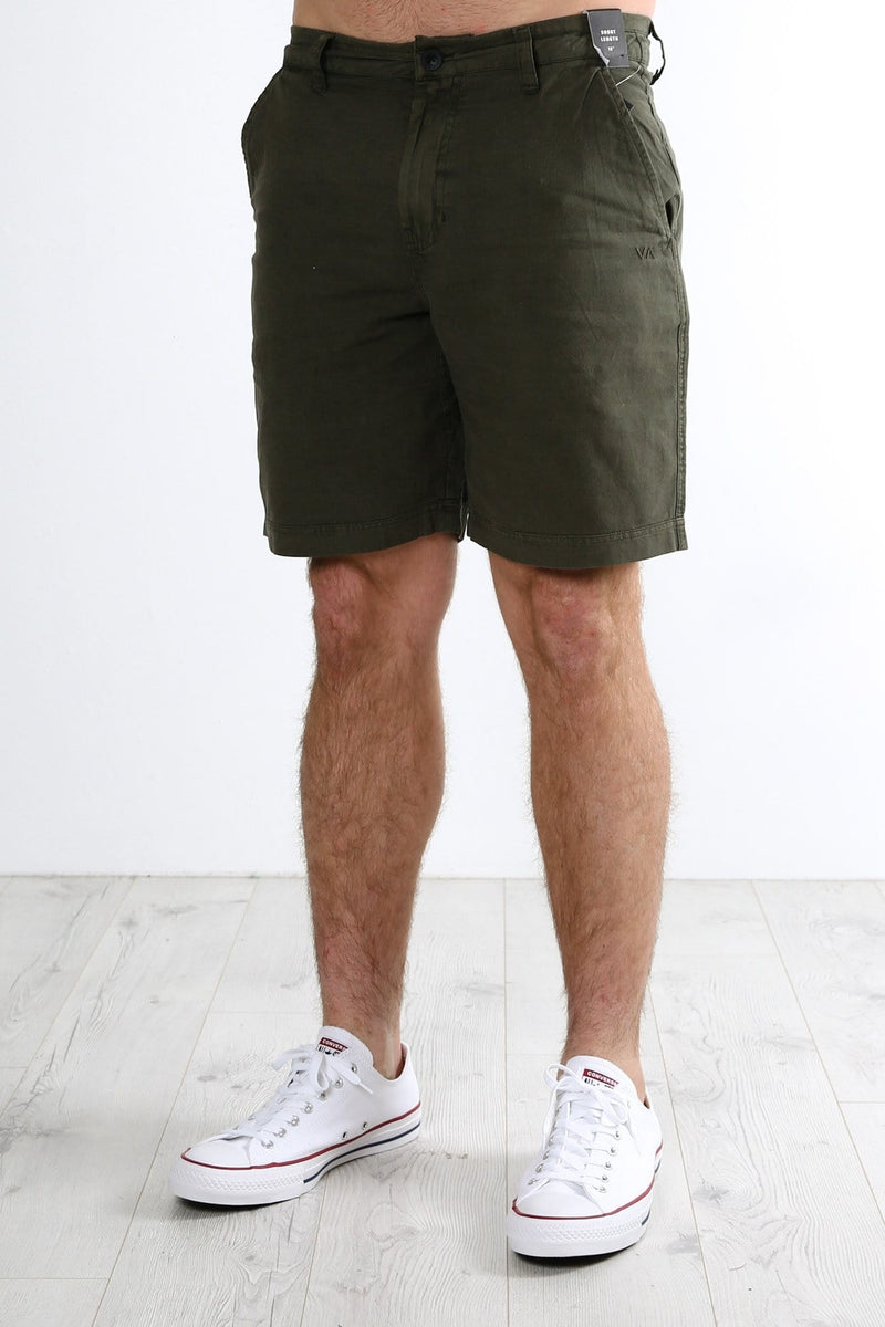Crush Linen Walkshort Military