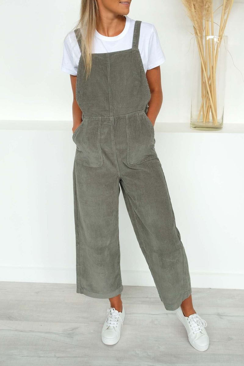 Crushed Plush Overall Sage RVCA - Jean Jail