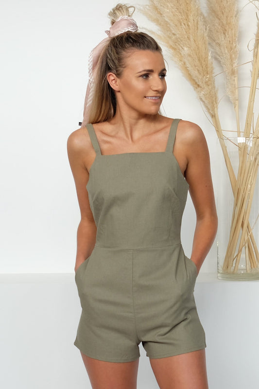 Darcey Playsuit Olive