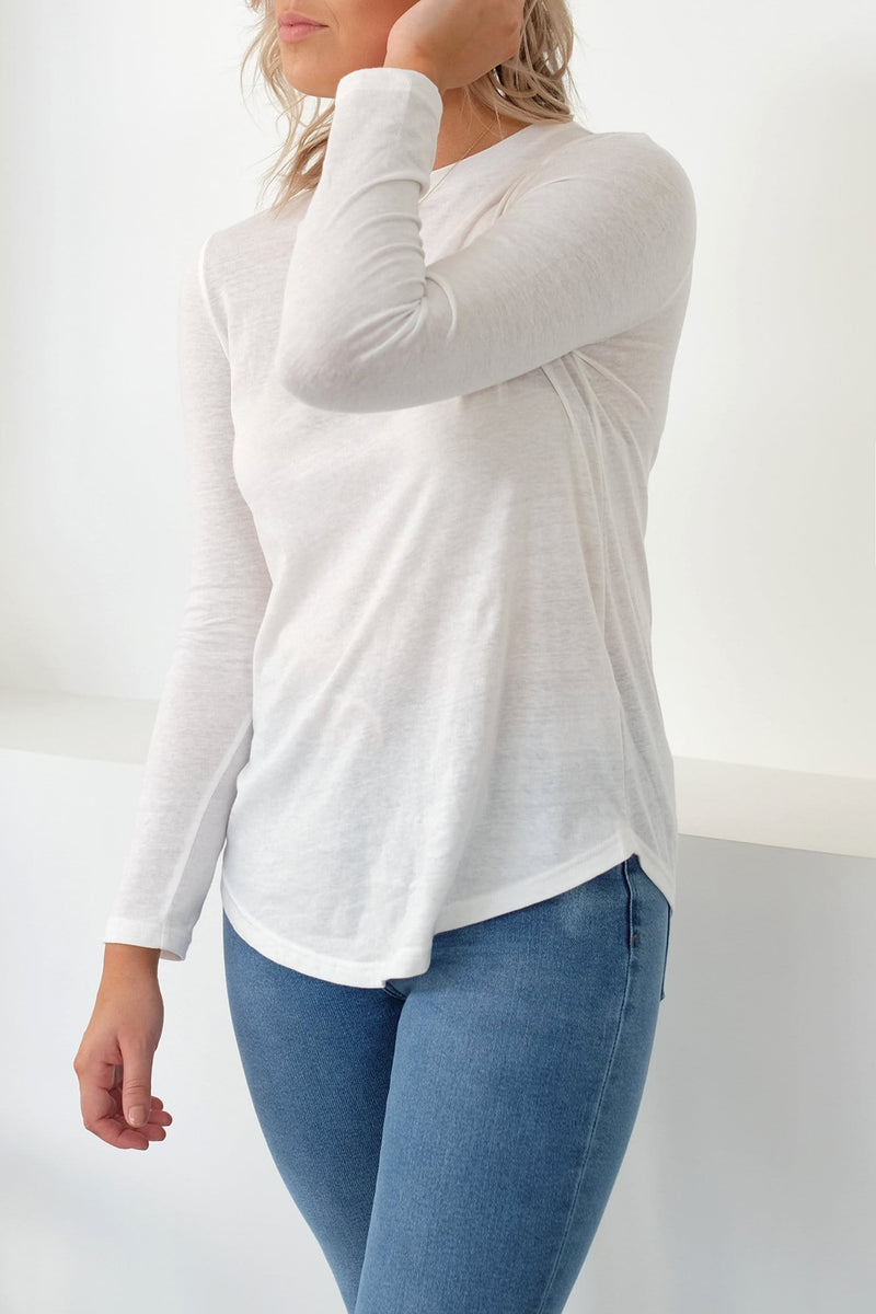 Decibel Long Sleeve Top White The Fifth Label - Jean Jail