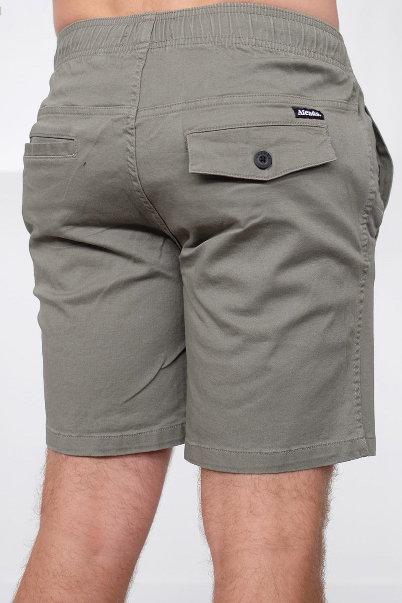 Dendy Elastic Waist Walkshort 17IN Khaki