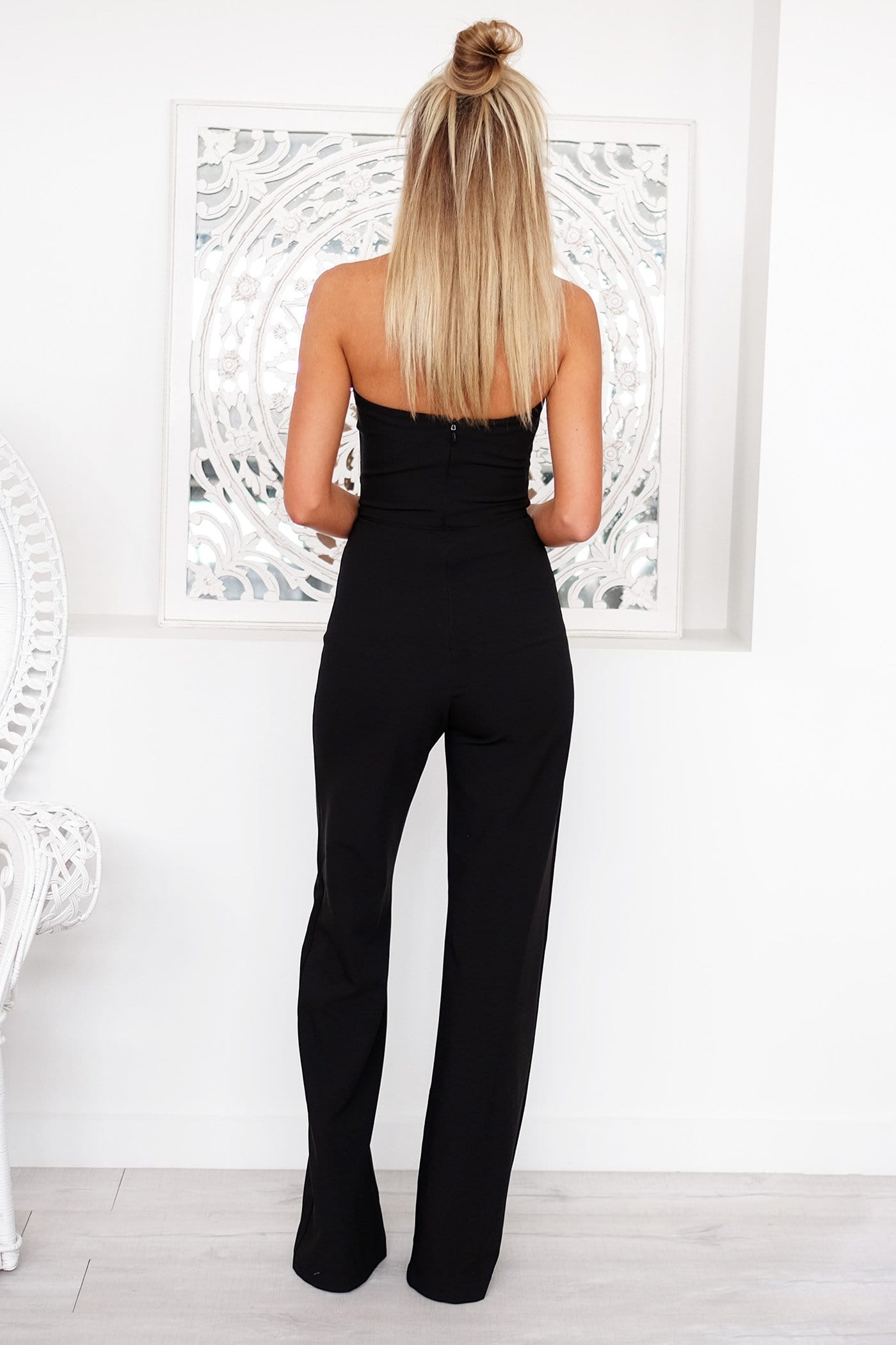 Diamond Jumpsuit Black