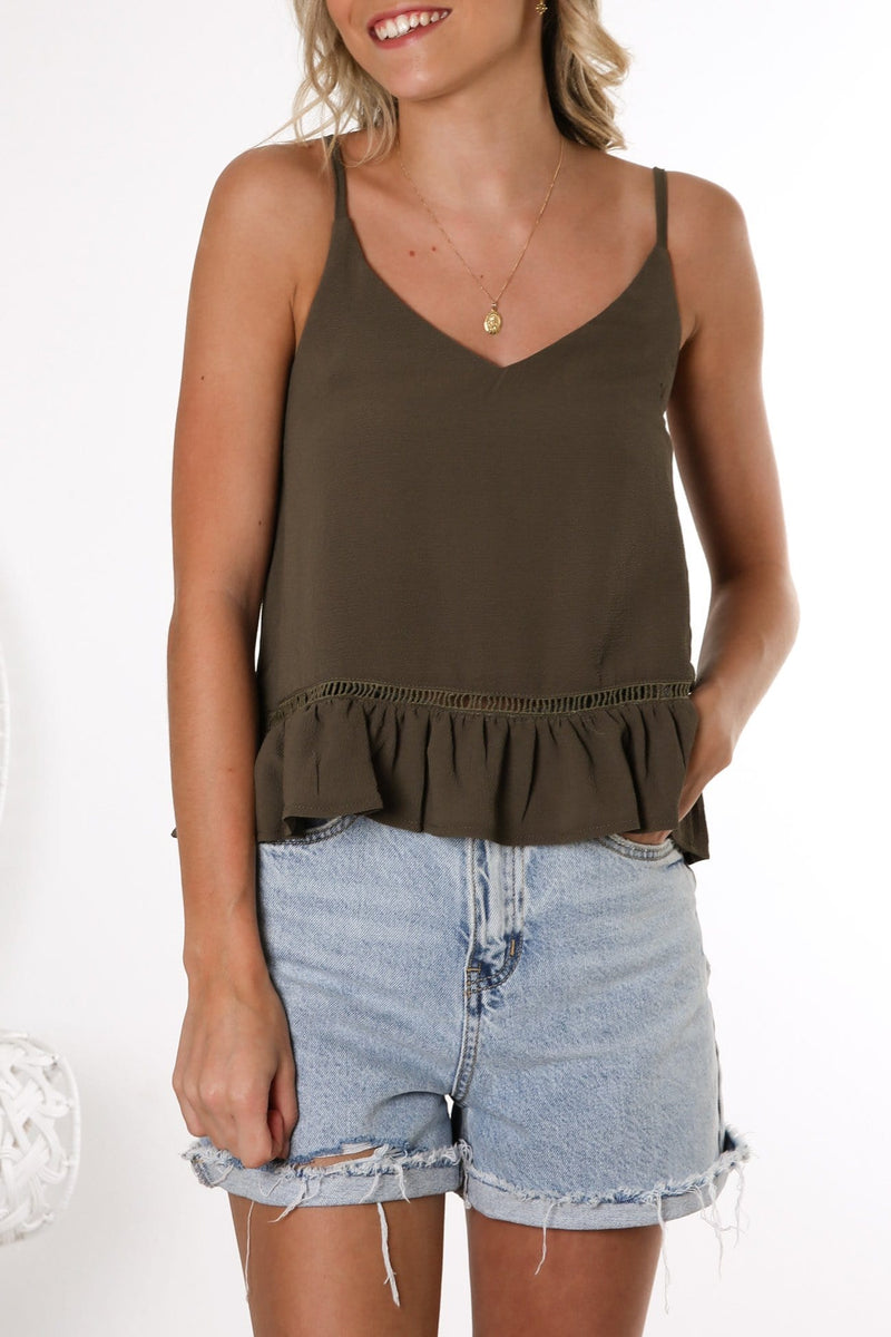 Distant Voices Top Olive