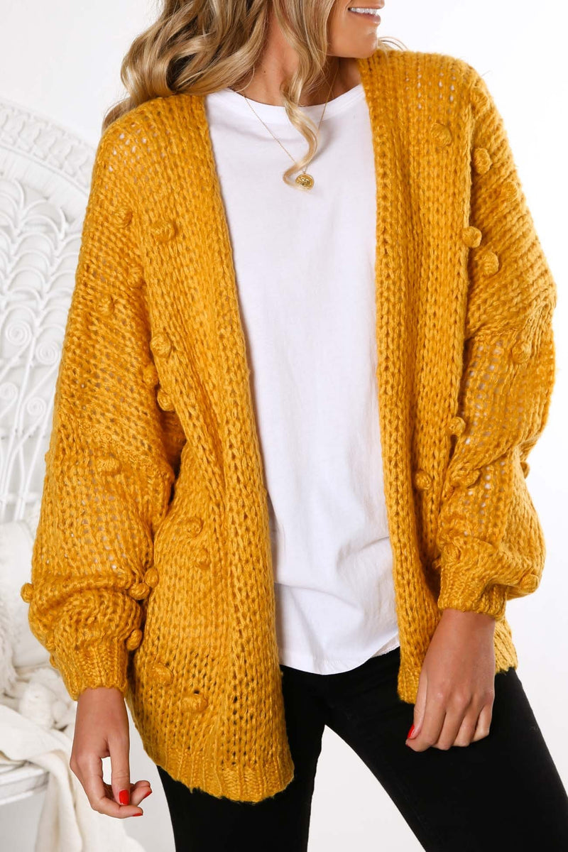 Dont You Ever Knit Cardigan Yellow Jean Jail - Jean Jail