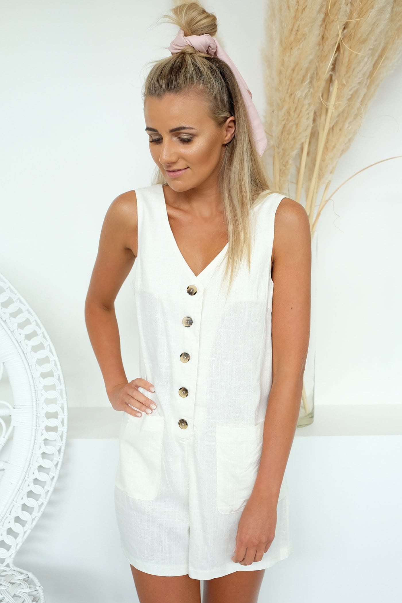 Dreamer Playsuit Cream