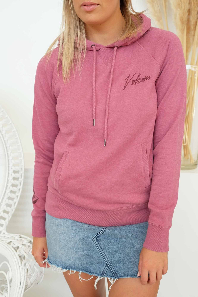 Dusted Stone Hoodie Dusty Rose Volcom - Jean Jail