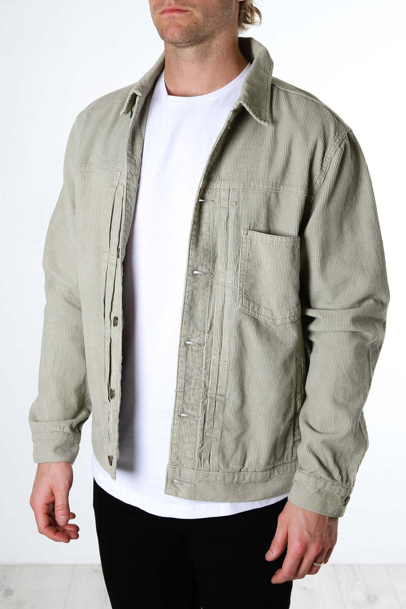 Stranded Cord Jacket Dusty Sage Thrills - Jean Jail