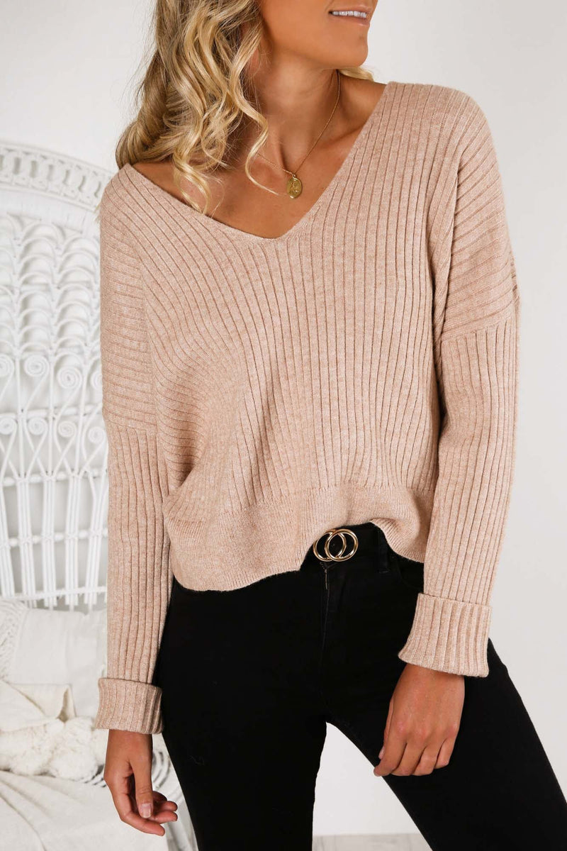 Dylan Knit Top Stone Nude Lucy - Jean Jail