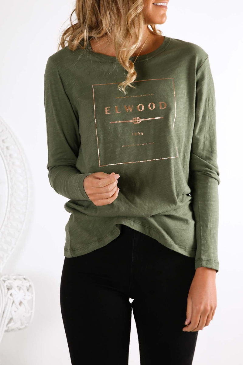 Easy Long Sleeve Tee Khaki Elwood - Jean Jail