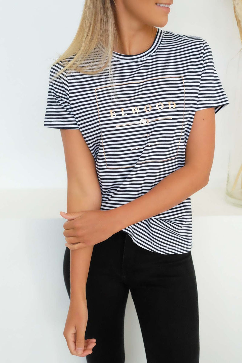 Easy Tee Navy White Stripe Elwood - Jean Jail