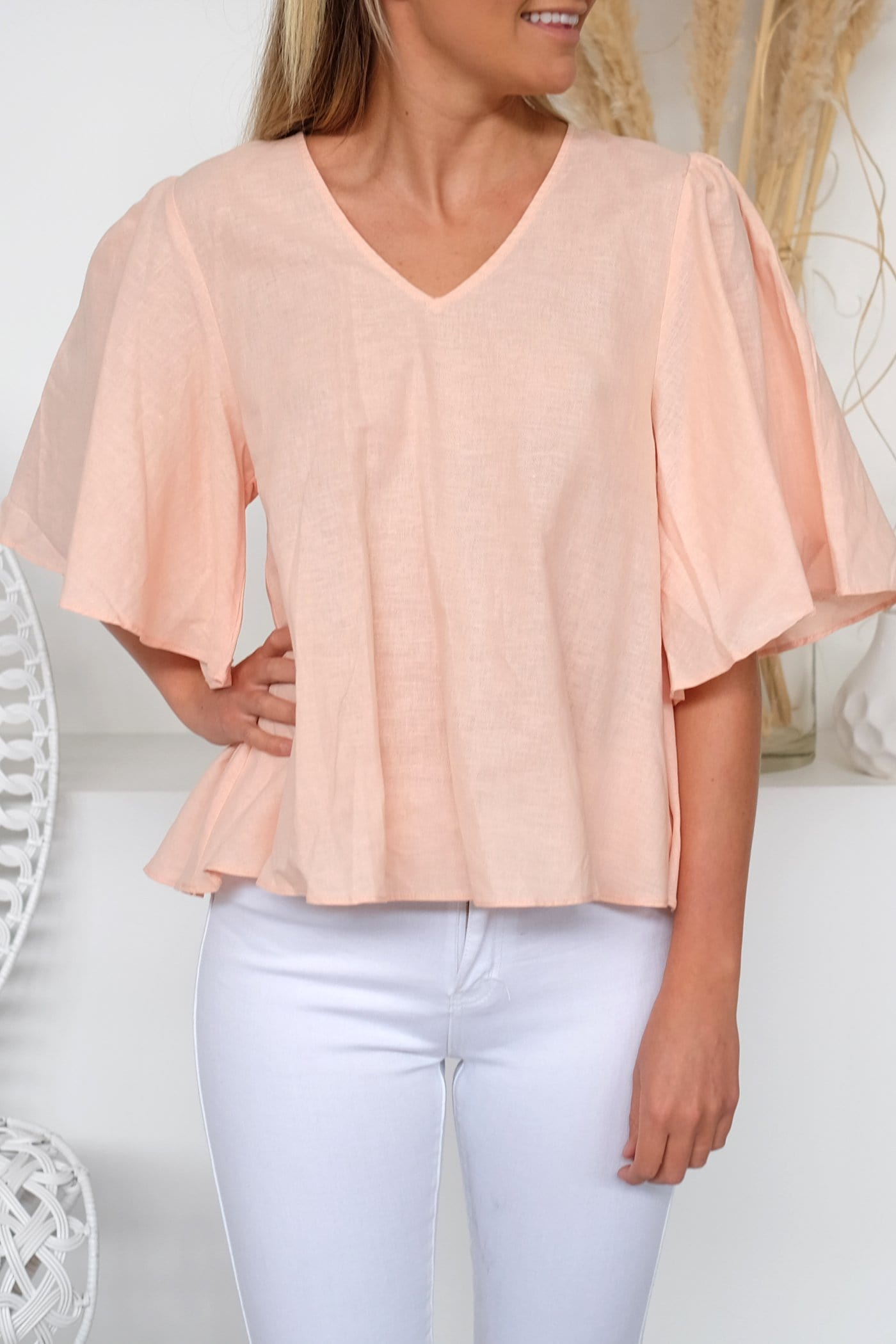 Eli Linen Cotton Top Spanish Vanilla